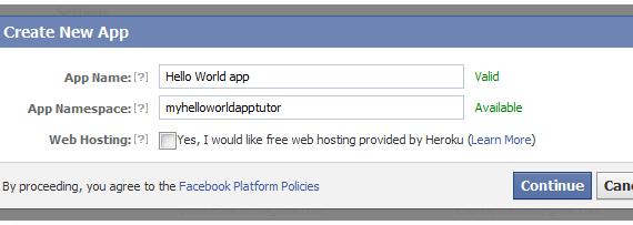 Facebook App Name