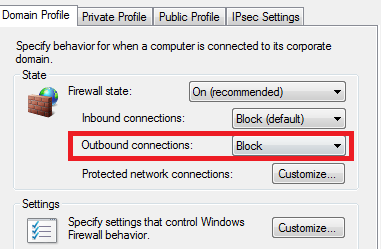 Blocking Internet on Windows