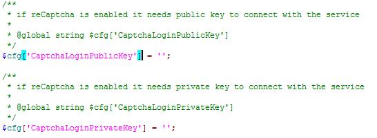 PHPMyAdmin Re-captcha