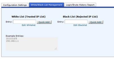 cPHulk White Black List Management
