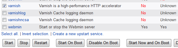 Configuring varnish to start after a reboot