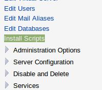 VirtualMin install scripts